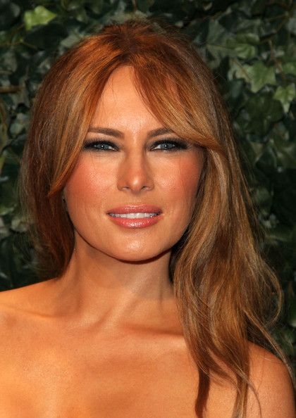 Melania Trump Melania Trump arrives at QVC Red Carpet Style Party on ...