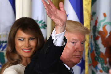 Melania Trump President Trump Holds Hispanic Heritage Event At The White House