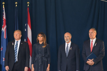 Melania Trump President Trump Speaks At The Flight 93 National Memorial During The September 11th Remembrance Ceremony
