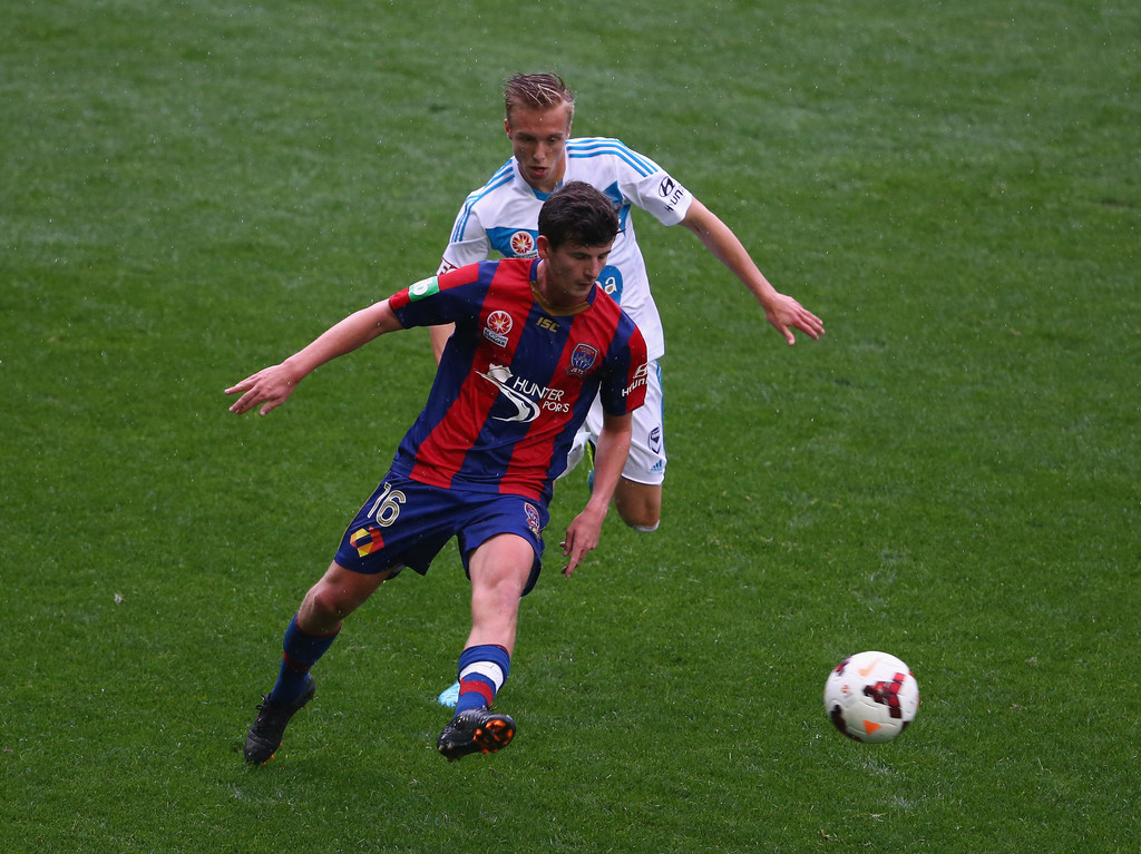 Mitchell Oxborrow Pictures Melbourne Victory v Newcastle Jets -