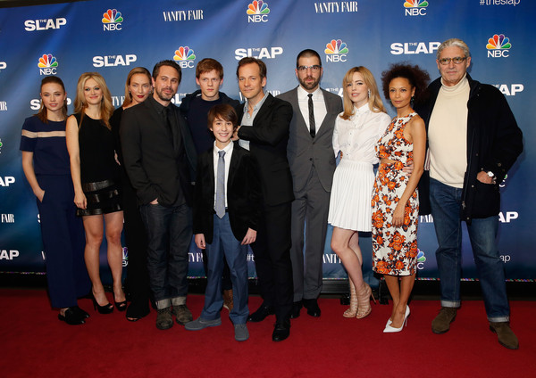 'The Slap' Premieres in NYC [the slap premieres,event,carpet,premiere,red carpet,flooring,award,makenzie leigh,marin ireland,owen tanzer,zachary quinto,peter sarsgaard,lucas hedges,thomas sadoski,l-r,nyc]