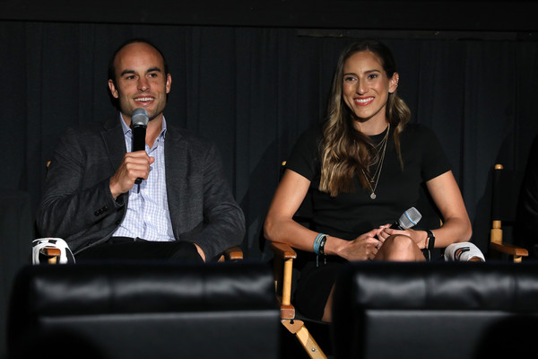 Premiere Of Docu-Series 'Cantera 5v5' During The Tribeca TV Festival [gatorade premiere of docu,docu-series,event,fashion,youth,conversation,design,adaptation,convention,performance,talent show,cantera,melissa ortiz,landon donovan,5v5,l-r,gatorade,tribeca tv festival,premiere]
