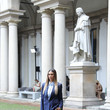 Melissa Satta Max Mara - Arrivals / Front Row - Milan Fashion Week Spring/Summer 2021