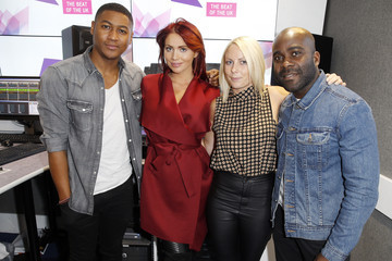 Melvin Odoom Amy Childs Visits Kiss FM