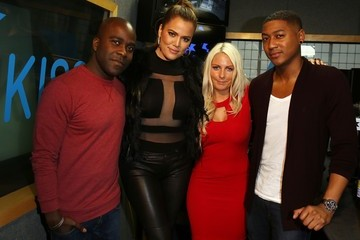 Melvin Odoom Khloe Kardashian Visits the KISS FM Studio
