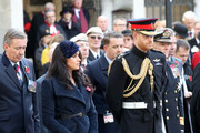 Meghan, Duchess of Sussex and Prince Harry, Duke of Sussex attend the 91st Field of Remembrance at Westminster Abbey on November 07, 2019 in London, England.