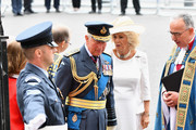 (2ndL) Prince Charles, Prince of Wales and Camilla, Duchess of Cornwall attend as members of the Royal Family attend events to mark the centenary of the RAF on July 10, 2018 in London, England.