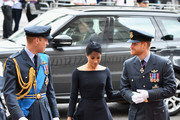(L-R) Prince William, Duke of Cambridge, Meghan, Duchess of Sussex and Prince Harry, Duke of Sussex attend as members of the Royal Family attend events to mark the centenary of the RAF on July 10, 2018 in London, England.