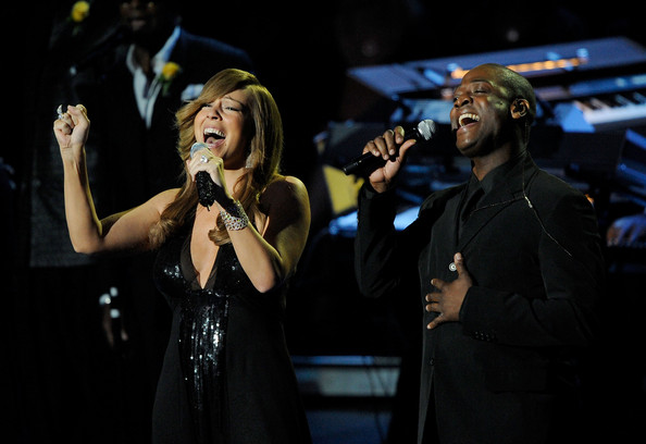 Mariah+Carey in Memorial Service For Michael Jackson Draws Thousands Of Fans And Mourners