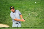 Jason Dufner hits his third shot on the 14th hole during the second round of The Memorial Tournament Presented by Nationwide at Muirfield Village Golf Club on June 1, 2018 in Dublin, Ohio.