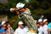 Ryo Ishikawa of Japan plays a shot on the second hole during the final round of the Memorial Tournament presented by Nationwide Insurance at Muirfield Village Golf Club on June 1, 2014 in Dublin, Ohio.