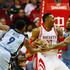 Alex Stepheson Photos - Tony Allen #9 and Alex Stepheson #35 of the Memphis Grizzlies defend against Dwight Howard #12 of the Houston Rockets during their game at the Toyota Center on March 14, 2016 in Houston, Texas. - Memphis Grizzlies v Houston Rockets