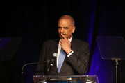 Eric Holder, Jr., the 82nd Attorney General of the United States, speaks during a symposium at the Peabody Hotel related to the 50th anniversary of the assassintion of Dr. Martin Luther King, Jr. on April 2, 2018 in Memphis, Tennessee. The two-day symposium brought together scholars, historians and thought leaders from across the country to present on the state of civil and human rights issues and racial and economic equity 50 years after the death of Dr. Martin Luther King Jr.