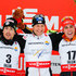 Bernhard Grube Photos - (FRANCE OUT) Francois Braud of France takes 2nd place, Bernhard Gruber of Austria takes 1st place, Johannes Rydzek of Germany takes 3rd place during the FIS Nordic World Ski Championships Men's Nordic Combined HS134/10k on February 26, 2015 in Falun, Sweden. - Men's Nordic Combined HS134/10km