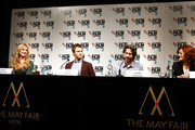 Producer Helen Estabrook, Actor Ansel Elgort and director Jason Reitman attends the press conference for 'Men, Women & Children' during the 58th BFI London Film Festival at The Mayfair Hotel on October 9, 2014 in London, England.