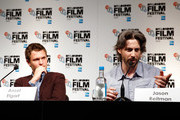 Actor Ansel Elgort and director Jason Reitman attend the press conference for 'Men, Women & Children' during the 58th BFI London Film Festival at The Mayfair Hotel on October 9, 2014 in London, England.