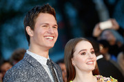 """Actors Ansel Elgort and Kaitlyn Dever attend the Virgin Atlantic Gala VIP arrivals for """"Men, Women & Children"""" during the 58th BFI London Film Festival at Odeon Leicester Square on October 9, 2014 in London, England."""