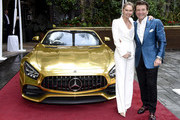(L-R) Kym Johnson and Robert Herjavec attend the Mercedes-Benz Academy Awards Viewing Party at The Four Seasons Hotel Los Angeles at Beverly Hills on February 09, 2020 in Los Angeles, California.