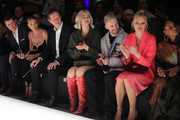 (L-R) Candice Swanepoel, Stefanie Giesinger, Marcus Butler and Franziska Knuppe at the Mercedes-Benz presents Fashion Talents from South Africa show during Berlin Fashion Week Autumn/Winter 2020 at Kraftwerk Mitte on January 13, 2020 in Berlin, Germany.