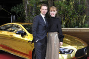 Dan Stevens (L) and Susie Hariet attend the Mercedes-Benz USA Awards Viewing Party at Four Seasons Los Angeles at Beverly Hills on February 24, 2019 in Los Angeles, California.