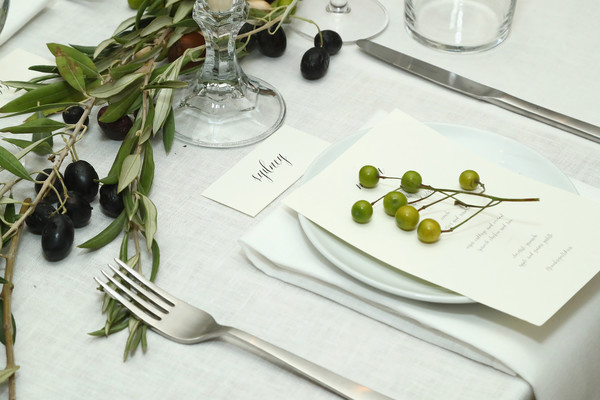 Jenni Kayne Celebrates Tribeca Boutique With Amy Astley, Meredith Melling and Kate Young [meredith melling,amy astley,jenni kayne celebrates tribeca boutique,kate young,jenni kaynes,dinner,display,table settings,fork,table,\u00e0 la carte food,tableware,plant,cutlery,food,flower,herb,plate,tribeca boutique,harrison street]