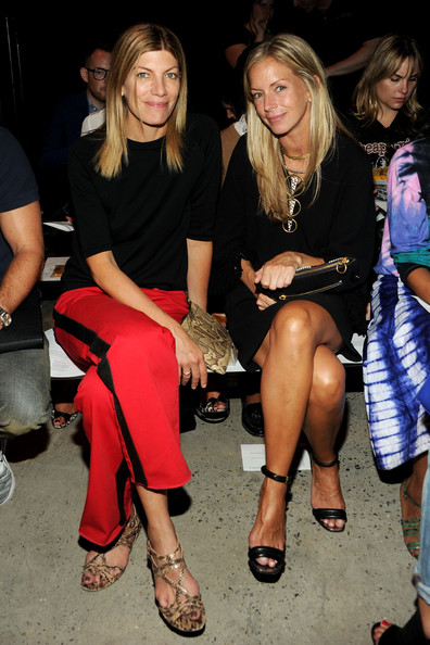 MBFW: Front Row at Band of Outsiders [leg,fashion,event,thigh,party,footwear,nightclub,sitting,human leg,long hair,band of outsiders womens,meredith melling burke,virginia smith,front row,new york city,band of outsiders women,l,mercedes-benz fashion week]