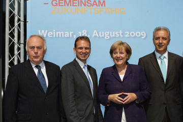 Wolfgang Boehmer Merkel Attends Congress To Celebrate German Unity