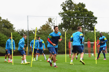 Mesut Ozil Arsenal Training and Press Conference
