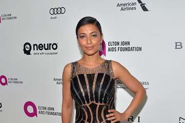 Meta Golding Elton John's Oscar Viewing Party
