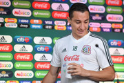 Andres Guardado of Mexico, looks on during a press conference at Training Base Novogorsk-Dynamo, on June 29, 2018 in Moscow, Russia.