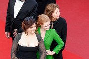 "(l-R) Member of the Feature Film jury Agnes Jaoui, actor and member of the Feature Film jury Jessica Chastain and member of the Feature Film jury Maren Ade attend ""The Meyerowitz Stories"" premiere during the 70th annual Cannes Film Festival at Palais des Festivals on May 21, 2017 in Cannes, France."