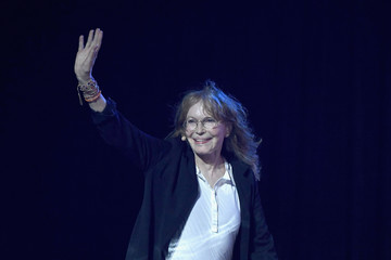 Mia Farrow Celebs Attend WE Day New York Welcome to Celebrate Young People Changing the World