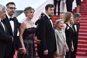 "(L-R) Producer Domenico Procacci, actor John Turturro, actress Margherita Buy, director Nanni Moretti, actress Giulia Lazzarini, actress Beatrice Mancini and Paolo Del Brocco attend the Premiere of ""Mia Madre"" (""My Mother"") during the 68th annual Cannes Film Festival on May 16, 2015 in Cannes, France."