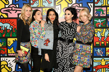 Mia Moretti Stacey Bendet And Paris Jackson Celebrate The Launch Of Keith Haring x Alice + Olivia