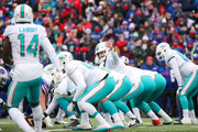 Jay Cutler #6 of the Miami Dolphins signals to the offense during the first quarter against the Buffalo Bills on December 17, 2017 at New Era Field in Orchard Park, New York.