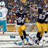 Antonio Brown Photos - Antonio Brown #84 of the Pittsburgh Steelers scores on a 43 yard touchdown pass against the Miami Dolphins during the game on December 8, 2013 at Heinz Field in Pittsburgh, Pennsylvania. - Miami Dolphins v Pittsburgh Steelers