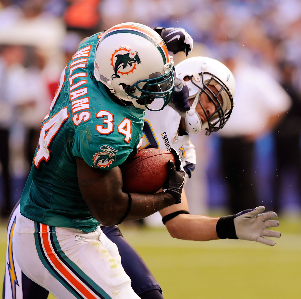 Ricky Williams In Miami Dolphins V San Diego Chargers
