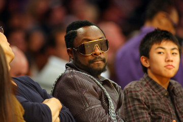 will.i.am Miami Heat v Los Angeles Lakers