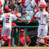 Denard Span Bryce Harper Photos - Denard Span #2 of the Washington Nationals celebrates with teammate Bryce Harper #34 after scoring during the seventh inning of their 7-5 win over the Miami Marlins at Nationals Park on May 6, 2015 in Washington, DC. - Miami Marlins v Washington Nationals
