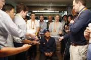 Naomi Osaka of Japan fields questions from the media at a player availability session on Day 3 of the Miami Open Presented by Itau on March 20, 2019 in Miami Gardens, Florida.