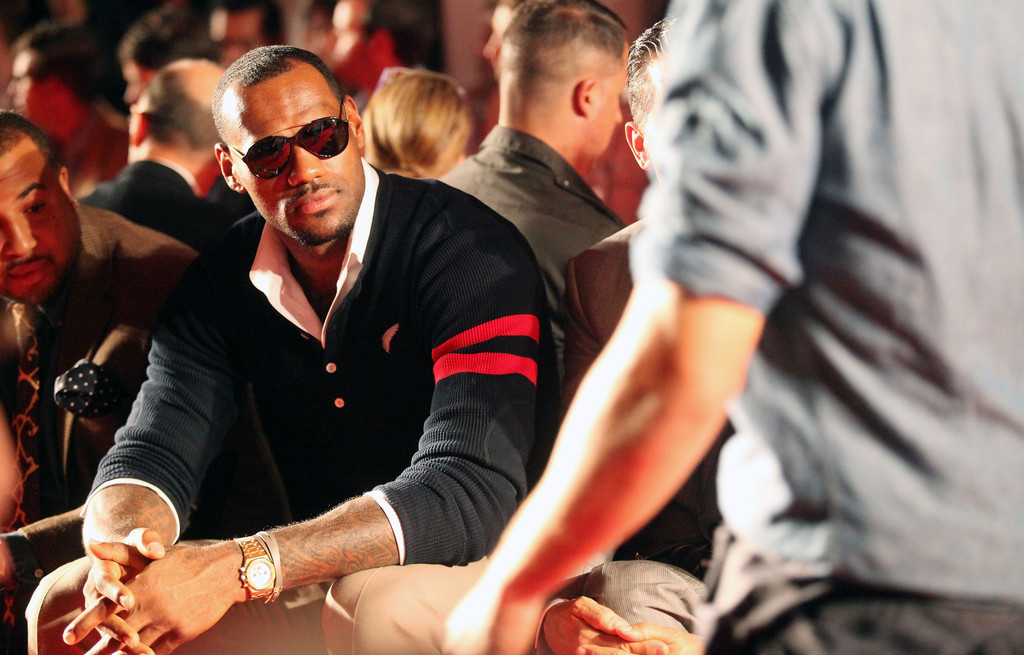 LeBron James in Michael Bastian Men's - Front Row - Spring ...