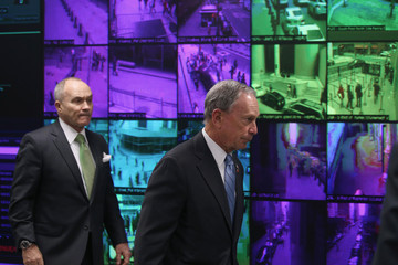 Michael Bloomberg Ray Kelly Michael Bloomberg Visits Lower Manhattan Security Initiative