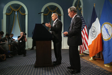 Michael Bloomberg Ray Kelly Michael Bloomberg Addresses NYC Public Safety Measures