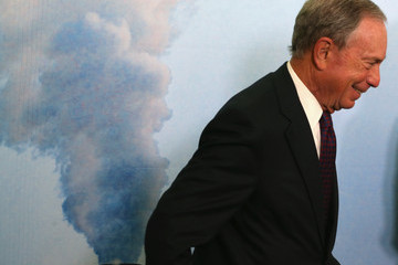 """Michael Bloomberg Former NYC Mayor Bloomberg And Sierra Club Director Hold News Conference On The """"Beyond Coal Campaign"""""""