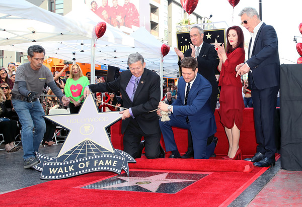 Michael Buble Honored With Star On The Hollywood Walk Of Fame
