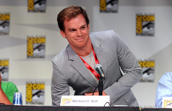 "Michael C. Hall Actor Michael C. Hall speaks at ""Showtime: Tired of Ordinary Television?"" New Season Preview at the San Diego Convention Center on July 21, 2011 in San Diego, California."