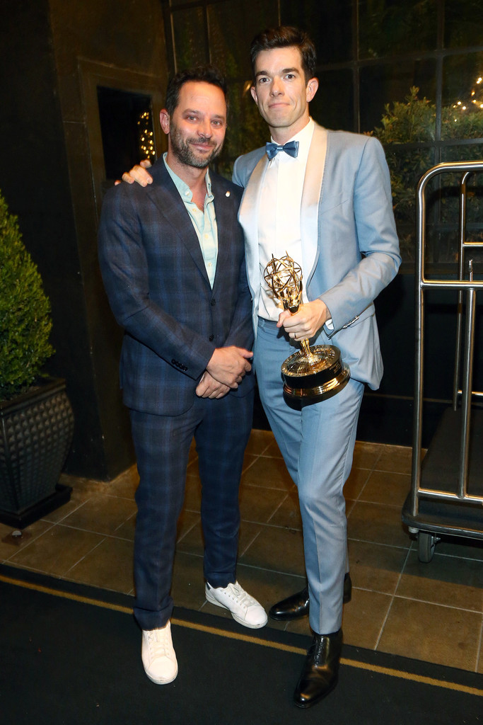 Nick Kroll John Mulaney John Mulaney Photos Michael Che And Colin Jost S Emmys After Party Presented By Google Zimbio