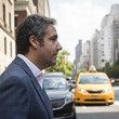 Michael Cohen Former Trump Lawyer Michael Cohen Exits The New York Hotel He Currently Lives In