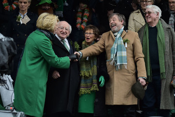Michael D. Higgins St Patrick's Day Parade Takes Place In Dublin