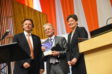"""Michael Douglas Michael Douglas Attends United Nations' """"Nuclear Disarmament, Non-Proliferation, And Energy:  Fresh Ideas For The Future""""Symposium"""